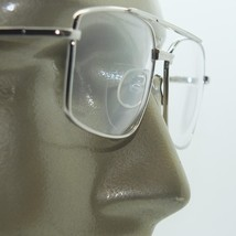 Bifocal Reading Glasses Square Aviator 80's Style Silver Metal Frame +2.... - $21.00