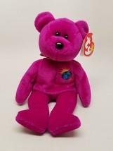 Ty Millennium the Bear Original Beanie Baby Retired Purple 2000 Clean w/... - $12.32