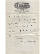 PERCY HAMMOND Autograph letter, nicely signed - $10.39