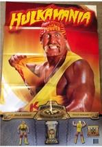 WWE Mattel HULK HOGAN Hulkamania Promo Poster Defining Moments Huge 24x36 - $5.93