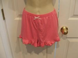 Pj Couture pink ruffled Hem Pajama Bottoms Shorts Sleepwear size jr. med - $11.88