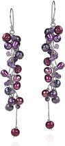 Classy Ruffles Cultured Freshwater Purple Pearl-Simulated Amethyst Stone - $79.69