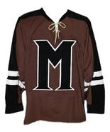 Connor Banks Mystery Alaska Movie Hockey Jersey New Brown Any Size - $54.99+
