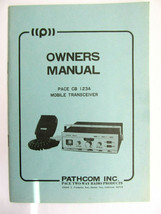 Vtg CB owners manual Pathcom Pace 123A movile transceiver  - $14.03