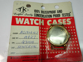 VINTAGE AS1902 GOLD COLOR WATCH CASE NOS IN PACKAGE FOR AS1902-03 WATCH ... - $54.23