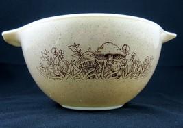 Pyrex Forest Fancies Vintage 1970s Cinderella Mixing Bowl 7 Inch Tan Mushrooms - $19.99