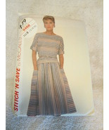 Stitch And Save By McCalls Vintage Misses Top And Skirt Pattern 12-14-16 - $6.99
