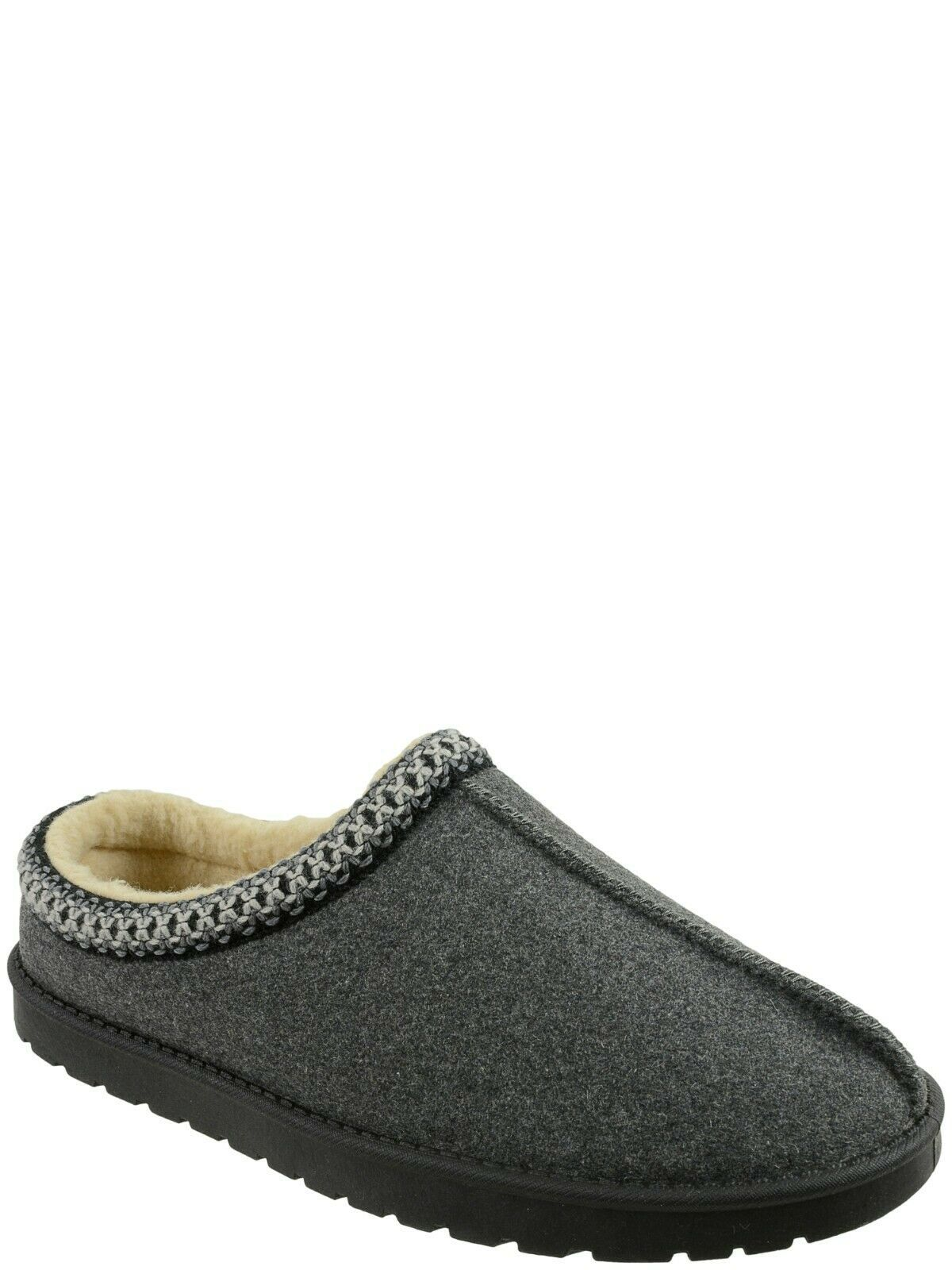 Primary image for George Men's Memory Foam Knit Collar Clog Slippers Size 11/12 Gray NEW
