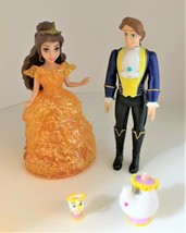 Polly Pocket Beauty & the Beast Princess Belle, Prince Adam & Glitter Glider  - $28.70