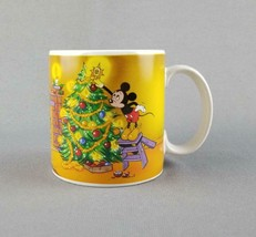 Disney Christmas Mickey Mouse, Pluto, Donald Duck (Vintage 1988) Coffee ... - $17.77