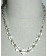 VTG Gold Tone Faceted Clear Cut Crystal Beaded Art Deco Choker Necklace C - $79.20
