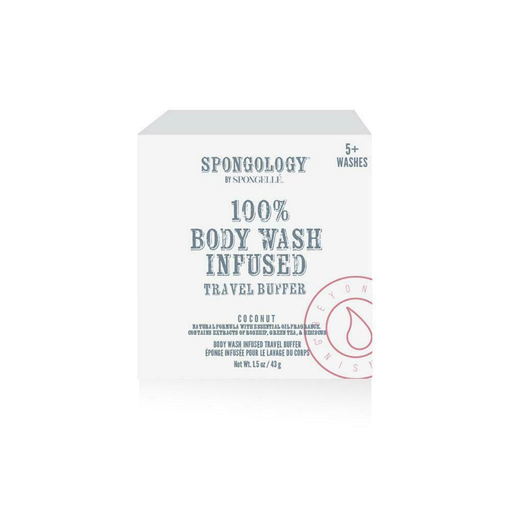 Spongelle Spongology Body Wash Infused Buffer 5+ Washes - Coconut Travel Buffer