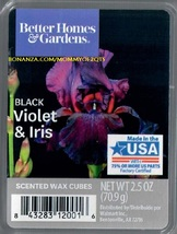 Black Violet Iris Better Homes and Gardens Scented Wax Cubes Tarts Melts Home - $3.50
