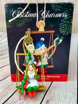 Vintage Christmas Charmers Trimming The Mistletoe Christmas Ornament - $6.26