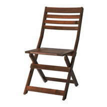 IKEA APPLARO Outdoor Brown Foldable Brown Stained Chair, 102.085.37 - NEW - $86.12