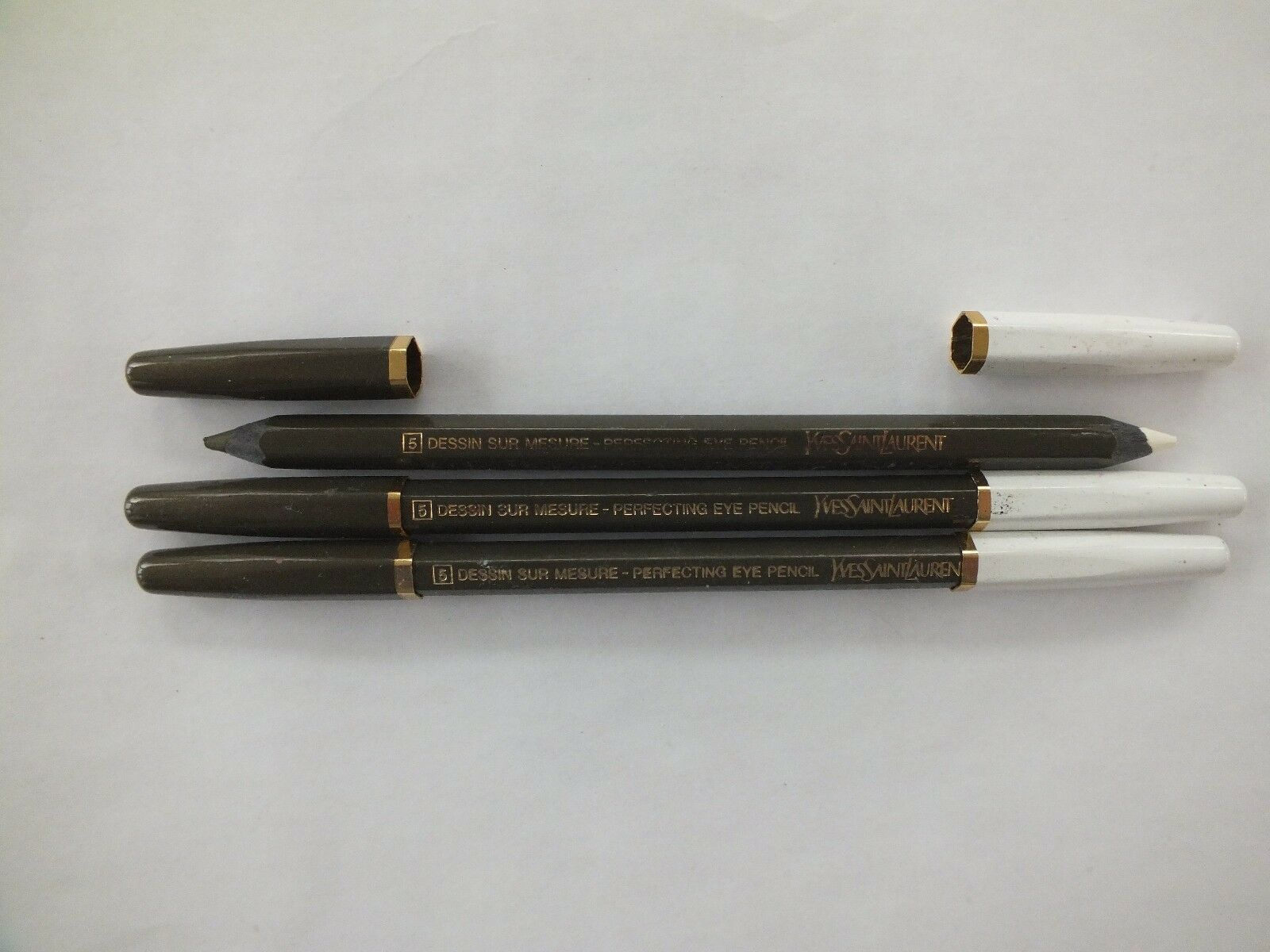 3 YVES SAINT LAURENT PERFECTING EYE PENCIL DUO - #5 - FULL SIZE - NEW - $22.76