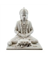 "HANUMAN STATUE 8"" Hindu Monkey God HIGH QUALITY White Marble Finish Resi... - £54.47 GBP"