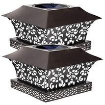 Siedinlar Solar Post Lights Outdoor Deck Fence Cap Light Solar Powered M... - $22.94