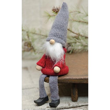 Country SITTING GNOME DOLL Rustic Primitive Farmhouse Christmas Winter 5... - $31.99