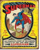 Superman and His Daring Exploits DC Universe Villains and Super Hero Metal Sign - $18.95