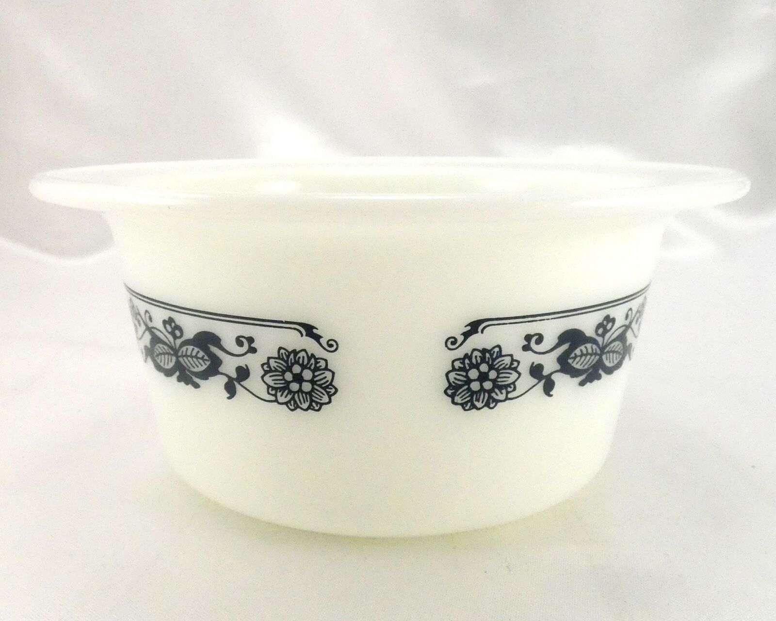 Pyrex 75 Old Town Dish Blue Wide Extended Rim Crock Style Bowl ~ Made in the USA image 6