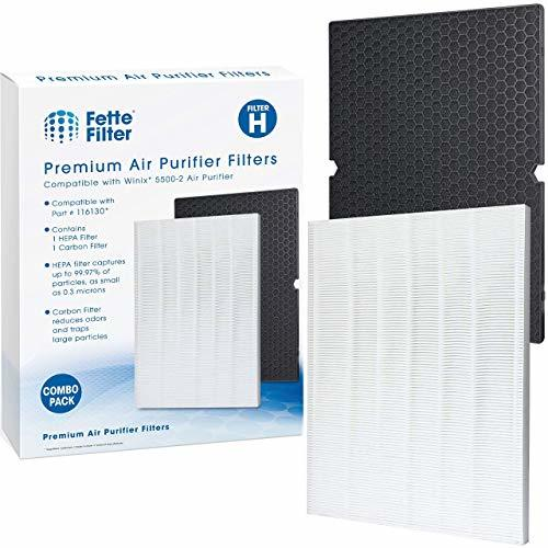Fette Filter - Premium True HEPA Replacement Filter Compatible with Winix 116130