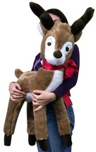 American Made Giant Stuffed Reindeer Christmas Plush 37 Inches Made in USA New - $87.43