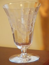 "SET 5 VINTAGE CRYSTAL DESSERT CUPS TULIP SHAPE OPTIC FLORAL 5.5"" H TRUMP... - $29.99"