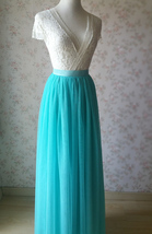 Maxi Full Tulle Skirts Wedding Separate Skirt Bridesmaid Tulle Skirts Water Blue image 6