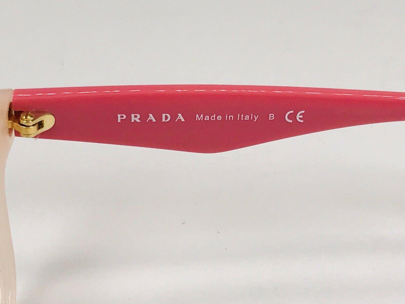 ✴ New Prada VPR 29R UEW-1O1 Two Toned Pink Eyeglasses 54mm with Prada Case