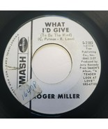 Roger Miller What I'd Give To Be The Wind Tolivar Smash Records 45 RPM D... - $33.75