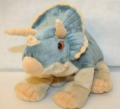 Wild Republic TRICERATOPS dinosaur plush stuffed animal Gray Tan  K&M Intl - $29.95