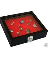 RING CASE rings box storage display for pins badges 36 Home Storage Jewelry - $28.45