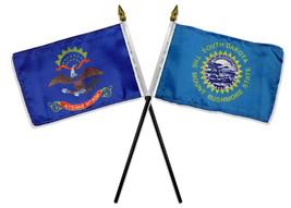 "State North & South Dakota Flags 4""x6"" Desk Stick Table (NO BASE) - $20.00"