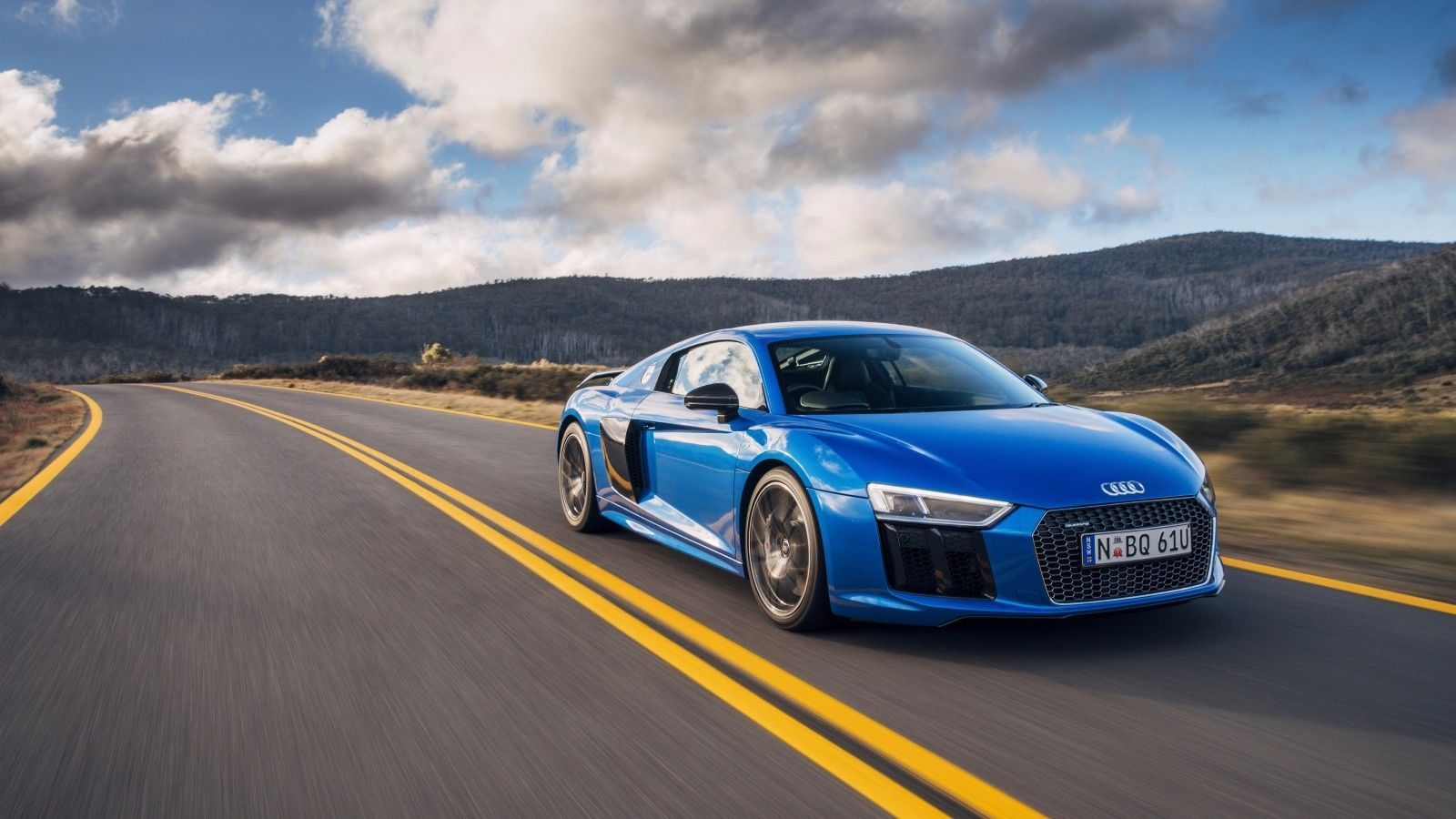 Primary image for 2016 Audi r8 blue 24X36 inch poster, sports car