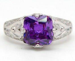 Buy Now 2CT Amethyst & Topaz 925 Solid Sterling Silver Ring Jewelry Sz 6... - $26.72