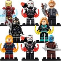 8pcs Avengers Endgame Marvel Iron Man War Machine Nebula Hawkeye Lego Minifigure - $14.99