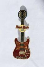 Hard Rock Cafe Pin Boston Red Glitter Electric Guitar - $14.81
