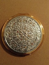 Pretty Crystal Metal Purse Compact And Mirror - $17.82