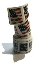 200 USPS FIRST CLASS 2017 FOREVER US FLAG - 2 (ROLL OF 100 POSTAGE STAMPS) - $87.99