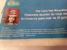 Dr. Seuss The Cat in the Hat's Wearable Cardboard Hat for kids Set of 24... - $14.95