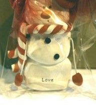 CHRISTMAS ORNAMENTS WHOLESALE- SNOWMAN- 13366- 'LOVE'-  (6) - NEW -W74 - $5.83