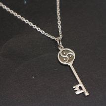 Silver BDSM Key Necklace Pendant image 2