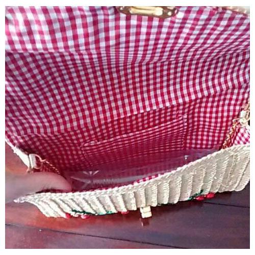 Women Lady Straw Clutch Bag Boho Summer Purse Handbag 2018 Stylish Cherry Banana