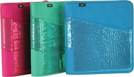 """Hilroy Zipper Glitter Glam Sequin 1.5"""" 3 Ring Expandable Binder PICK YOU... - $11.99"""