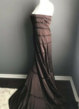 BCBG Max Azria ATELIER Gown Brass Metallic strapless train RED CARPET DR... - $89.05
