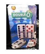Welcome To Las Vegas Double 6 Dominoes,Six Color Dots,Set 28 Plain Style... - $13.50