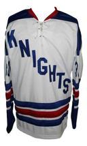 Custom Name # Omaha Knights Retro Hockey Jersey New White Bennett #30 Any Size image 3