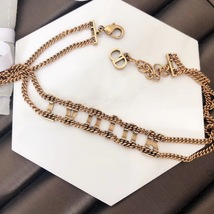 AUTH Christian Dior 2019 J'ADIOR Limited Ed Necklace Chain Choker Gold image 5