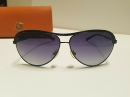 Tory Burch Ty6015b 107/11 Sunglasses Black Light Grey Gradient Dark Blue 5 - $91.23